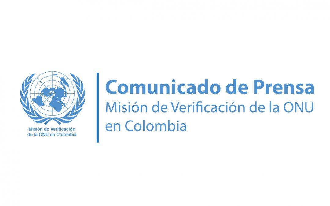 Declaración del Representante Especial del Secretario General de la ONU en Colombia Carlos Ruiz Massieu – 27 abril 2020