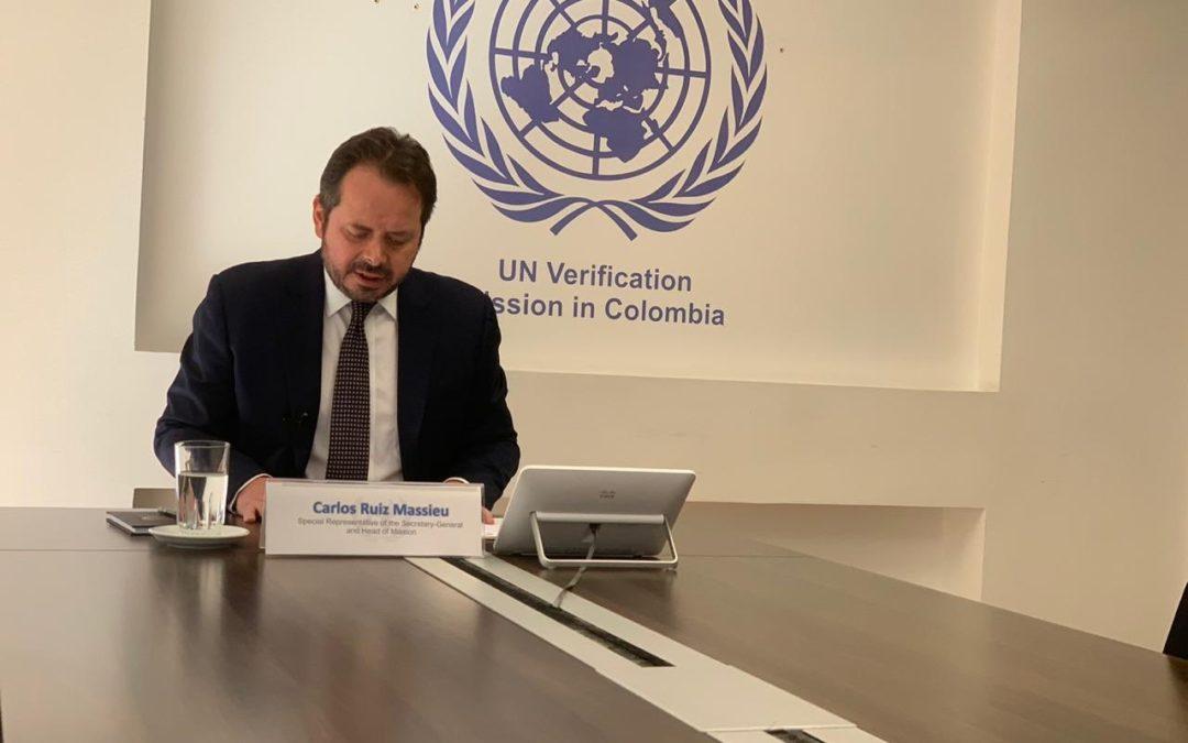 Declaración del Representante Especial del Secretario General, Sr. Carlos Ruiz Massieu, en la sesión informativa del Consejo de Seguridad de las Naciones Unidas sobre Colombia