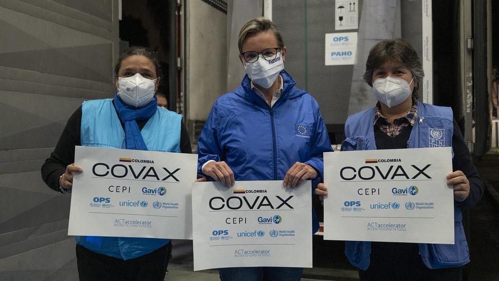 Colombia recibe segundo envío de 912.000 vacunas anti COVID-19 a través del Mecanismo COVAX