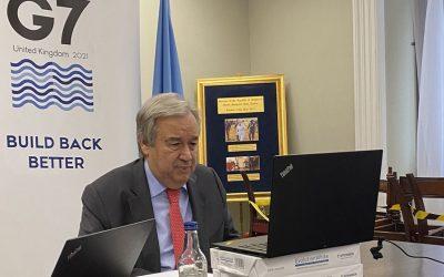 """Vacuna COVID-19: """"No pido ninguna expropiación, pido justicia y cooperación"""", enfatiza el Secretario General"""