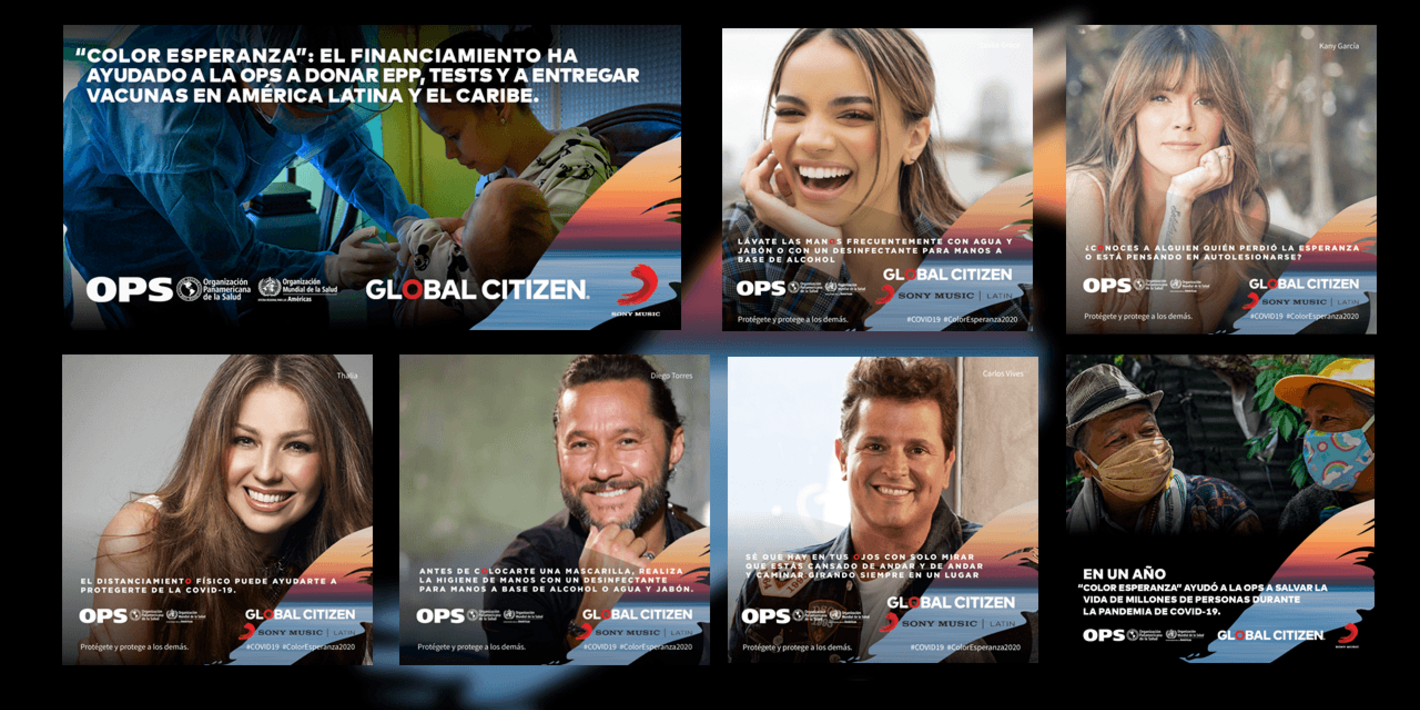 Global Citizen, la OPS y los artistas de Sony Music Latin reafirman su compromiso contra la COVID-19 en las Américas
